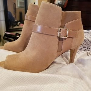 Marc Fisher open toe booties